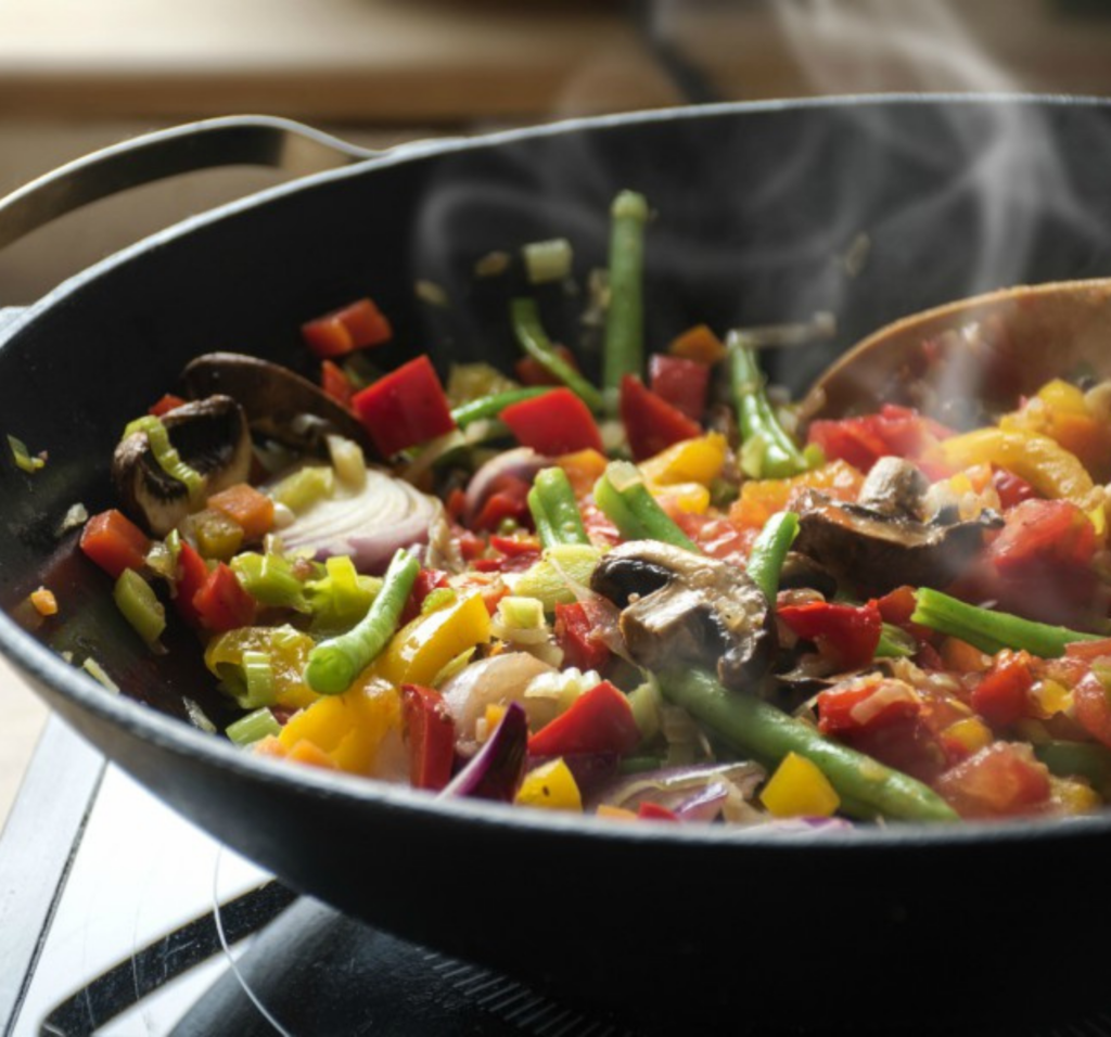 stir-frying